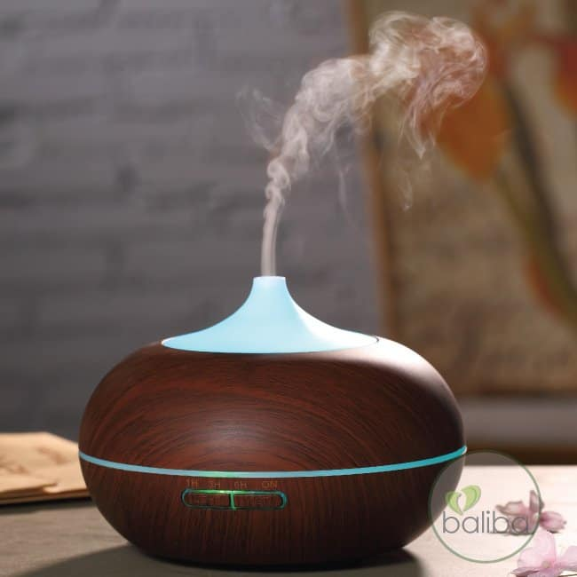 essential oil diffuser dark wood look 16 hours working time