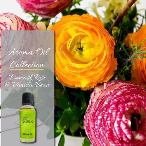 rose and vanilla aroma oil