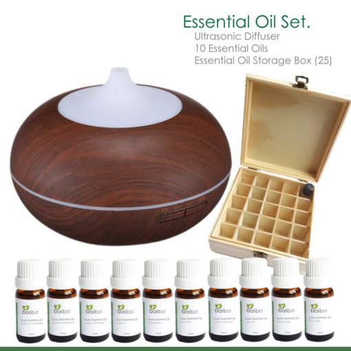 essential diffuser oils with case
