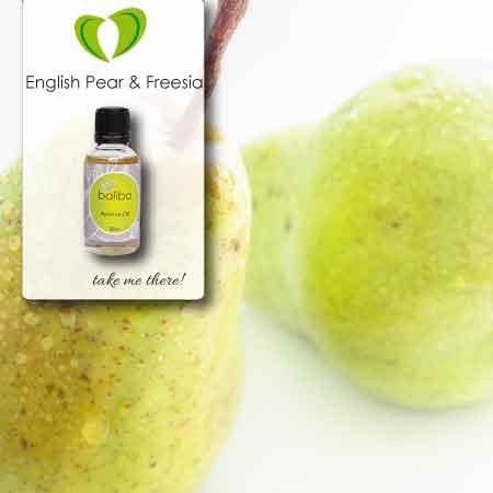english pear and freesia aroma oil bottle