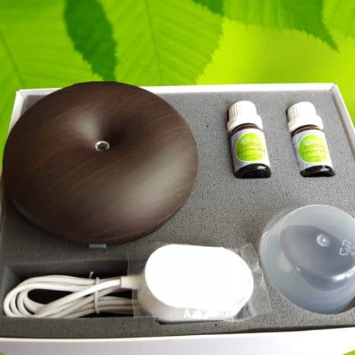 aroma oil gift set with dark diffuser